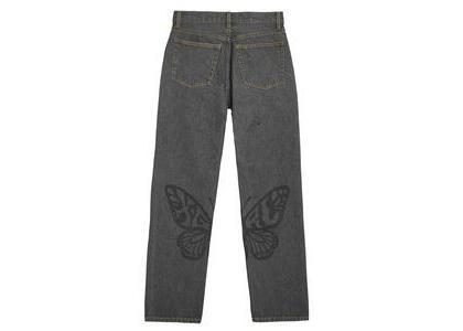 X-Girl Butterfly Print Denim Pants Blackの写真