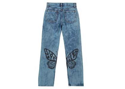 X-Girl Butterfly Print Denim Pants Indigoの写真