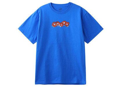 X-Girl Embroidered SunFlower Logo S/S Tee Blueの写真
