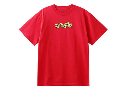 X-Girl Embroidered SunFlower Logo S/S Tee Redの写真