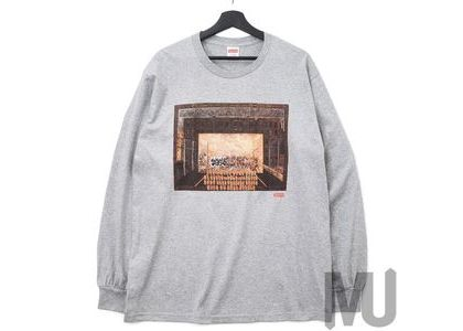 Supreme Martin Wong Attorney Street L/S Tee Heather Greyの写真