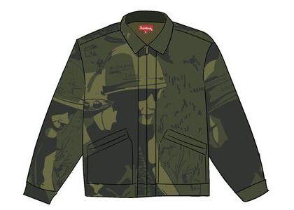 Supreme Is Love Denim Work Jacket Oliveの写真