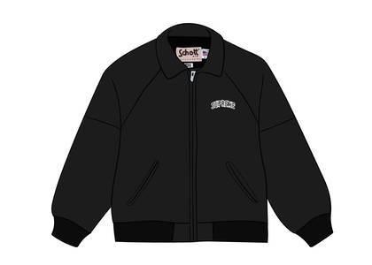 Supreme Schott Martin Wong 8 Ball Leather Varsity Jacket Blackの写真