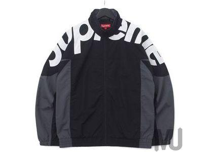 Supreme Shoulder Logo Track Jacket Blackの写真
