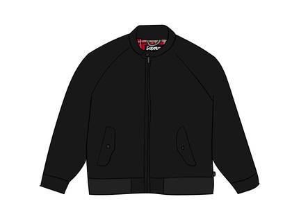 Supreme Wool Harrington Jacket Blackの写真