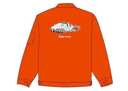 Supreme Cop Car Embroidered Jacket Orangeの写真