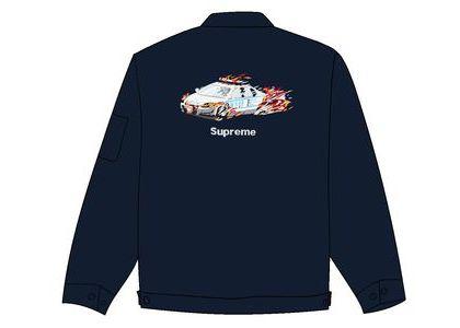 Supreme Cop Car Embroidered Jacket Light Navyの写真