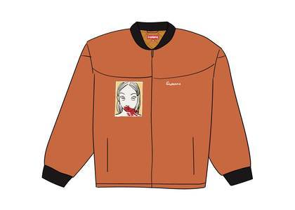 Supreme Mug Shot Crew Jacket Burnt Orangeの写真