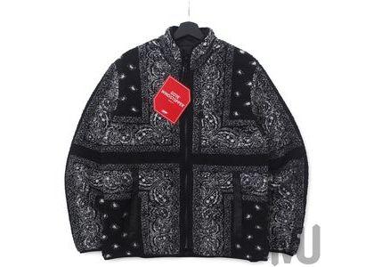 Supreme Reversible Bandana Fleece Jacket Blackの写真