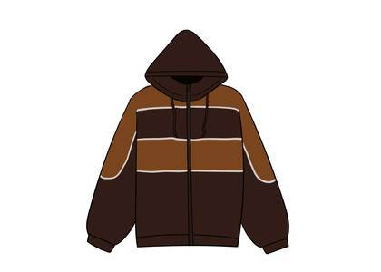 Supreme Sports Piping Puffy Jacket Brownの写真