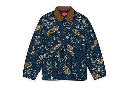 Supreme Quilted Paisley Jacket Navy Paisleyの写真