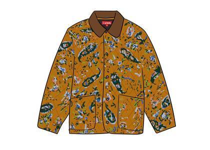 Supreme Quilted Paisley Jacket Mustard Paisleyの写真