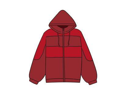 Supreme Sports Piping Puffy Jacket Redの写真