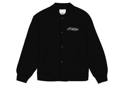 Supreme Delta Logo Varsity Jacket Blackの写真