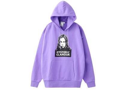 X-Girl × Hysteric Glamour Face Sweat Hoodie Light Purpleの写真