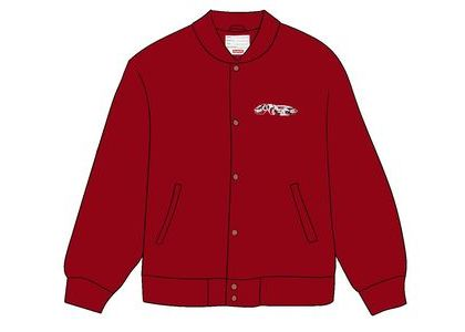 Supreme Delta Logo Varsity Jacket Redの写真