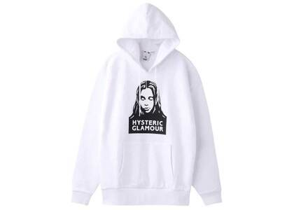 X-Girl × Hysteric Glamour Face Sweat Hoodie Whiteの写真