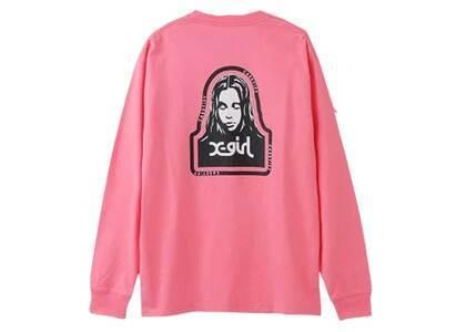 Casetify × X-Girl Face L/S Tee Pinkの写真