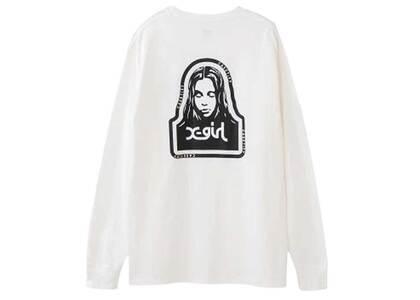 Casetify × X-Girl Face L/S Tee Whiteの写真