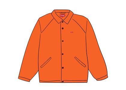 Supreme Snap Front Jacquard Logos Twill Jacket Orangeの写真