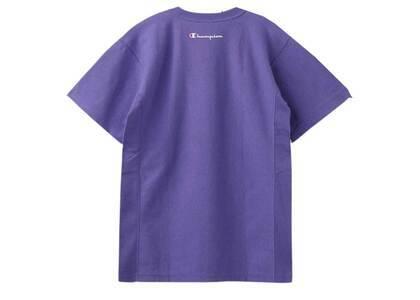 Champion ×  Reverse Weave × X-GirlⓇ S/S Pocket Tee Light Purpleの写真