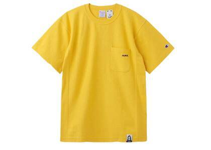 Champion ×  Reverse Weave × X-GirlⓇ S/S Pocket Tee Yellowの写真