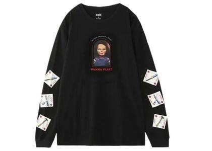 Childs Play × X-Girl Chucky L/S Tee Blackの写真