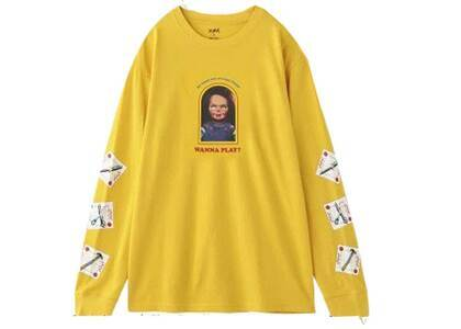 Childs Play × X-Girl Chucky L/S Tee Yellowの写真
