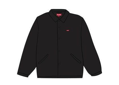 Supreme Snap Front Jacquard Logos Twill Jacket Blackの写真
