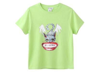 Eri Wakiyama × X-Girl Bat Cat S/S Tee Light Greenの写真