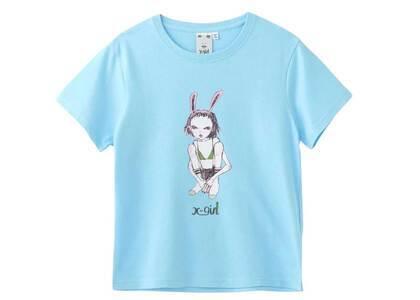 Eri Wakiyama × X-Girl Bunny Girl S/S Tee Light Blueの写真