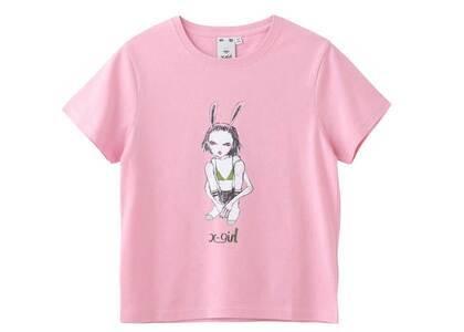 Eri Wakiyama × X-Girl Bunny Girl S/S Tee Pinkの写真
