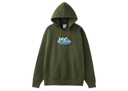 Hysteric Glamour × X-Girl Patch Hoodie Oliveの写真