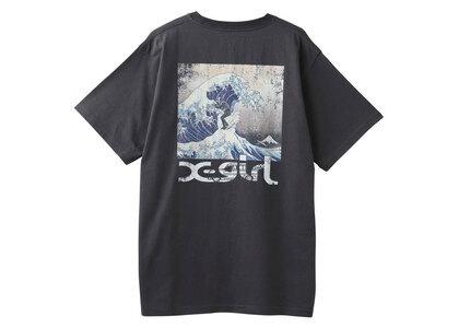 Jimmyz × X-Girl Hokusai Wave S/S Tee Charcoalの写真