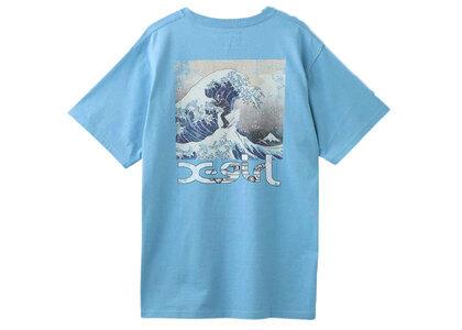 Jimmyz × X-Girl Hokusai Wave S/S Tee Light Blueの写真