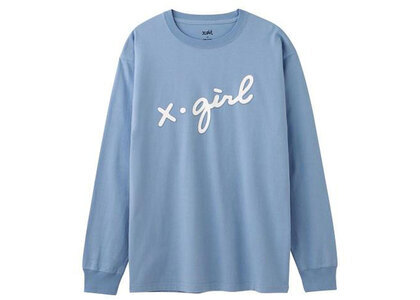 X-Girl 3D Cursive Logo L/S Tee Light Blueの写真