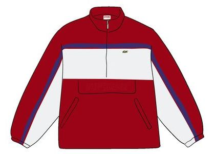 Supreme LACOSTE Puffy Half Zip Pullover Redの写真
