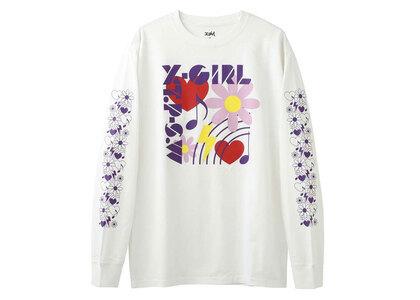 X-Girl Box Icon L/S Tee Whiteの写真