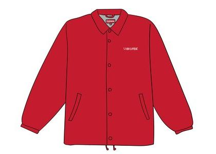 Supreme 1-800 Coaches Jacket Redの写真