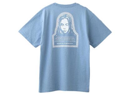 X-Girl Checkered Logo & Face S/S Tee Light Blueの写真