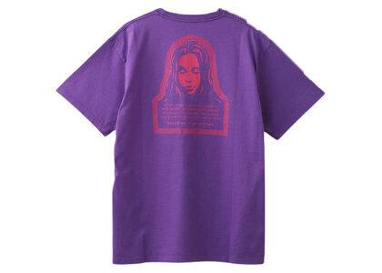 X-Girl Checkered Logo & Face S/S Tee Purpleの写真