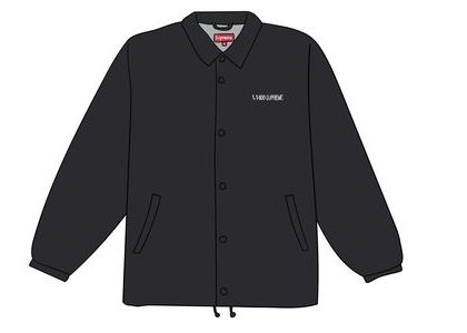 Supreme 1-800 Coaches Jacket Blackの写真