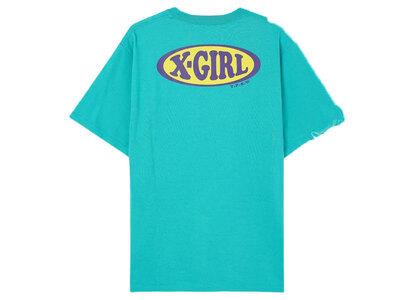 X-Girl Chubby Oval Logo S/S Tee Greenの写真