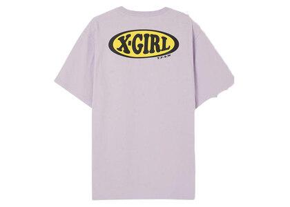 X-Girl Chubby Oval Logo S/S Tee Light Purpleの写真