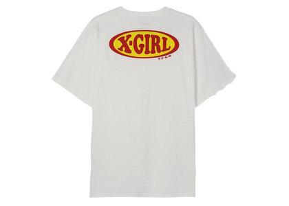 X-Girl Chubby Oval Logo S/S Tee Whiteの写真