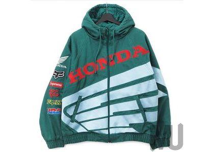 Supreme Honda Fox Racing Puffy Zip Up Jacket Dark Greenの写真
