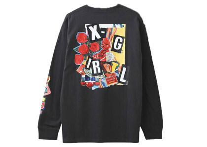 X-Girl Collage L/S Tee Charcoalの写真