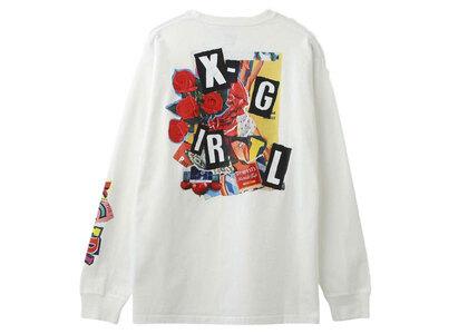 X-Girl Collage L/S Tee Whiteの写真