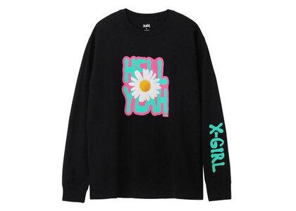 X-Girl Daisy Logo L/S Tee Blackの写真