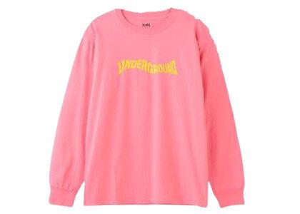 X-Girl Distorted Logo L/S Tee Pinkの写真